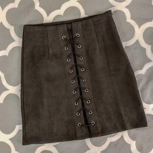 LF SEEK the Label Faux Suede Skirt